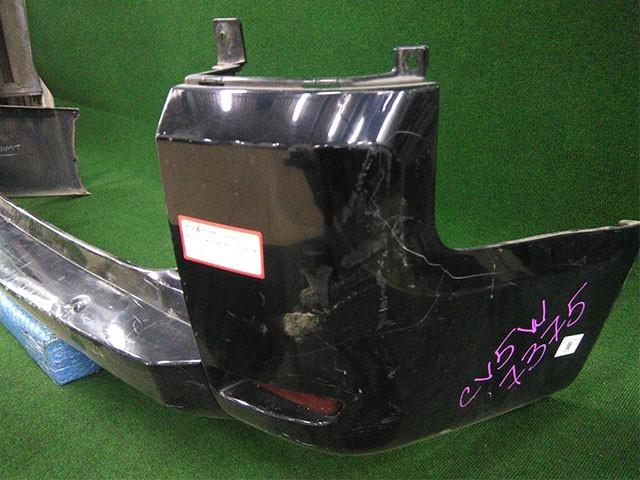 Бампер задний черный с катафотами (вмятина, царапины) (Б/У) для MITSUBISHI DELICA D:5 V CV 2007-н.в.