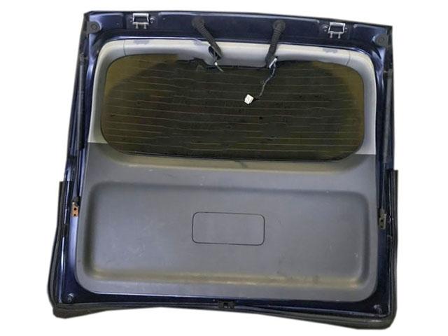 Крышка багажника темно-синяя в сборе со стеклом, спойлер, стеклоочиститель, амортизаторы (потерта, спойлер царапины) (Б/У) для TOYOTA ISIS XM10 2007-2009