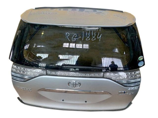 Крышка багажника серебро в сборе со стеклом, спойлер, стеклоочиститель, фонари, камера (Б/У) для TOYOTA ESTIMA R50 2006-2008