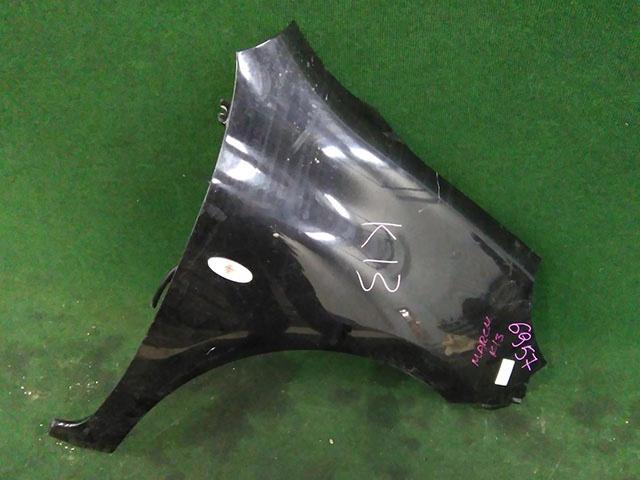 Крыло переднее правое черное с повторителем (Б/У) для NISSAN MICRA / MARCH MICRA IV / MARCH IV K13 2010-2013