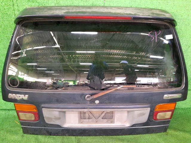 Крышка багажника темно-синяя в сборе со стеклом, стеклоочиститель, спойлер, фонари (Б/У) для MAZDA MPV LV 1988-1999