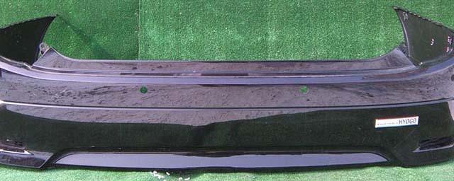 Бампер задний черный с отв. под парктроник (потерт) (Б/У) для NISSAN ELGRAND III E52 2010-2020