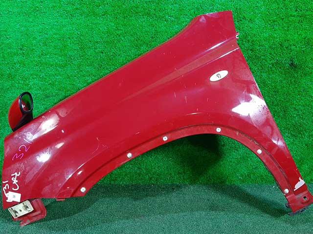 Крыло переднее левое красное в сборе с зеркалом (Б/У) для NISSAN X-TRAIL T31 2007-2015