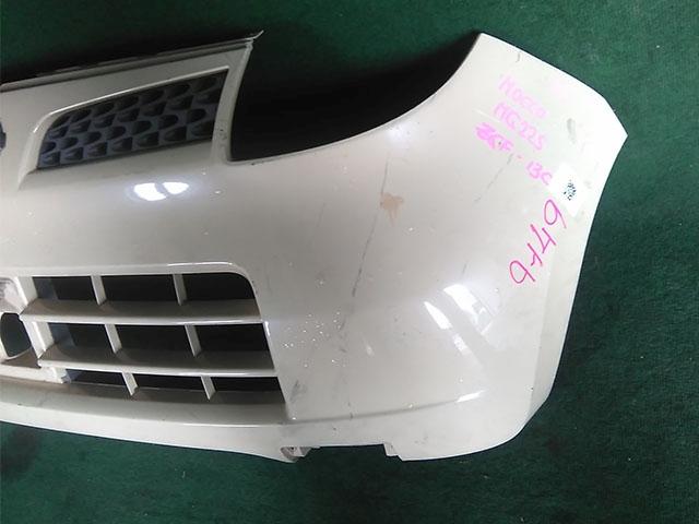 Бампер передний желтый в сборе с решеткой радиатора (нет заглушки) (Б/У) для NISSAN MOCO II G22 2006-2011