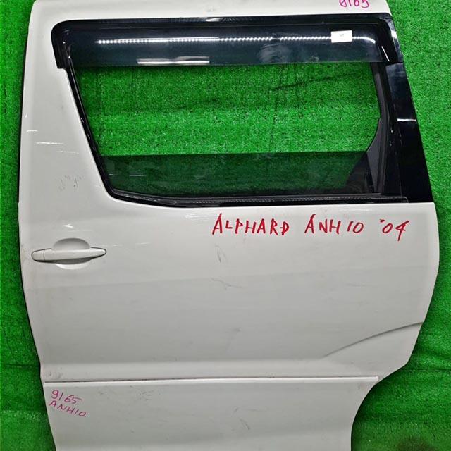Дверь задняя левая белая в сборе (Б/У) для TOYOTA ALPHARD H10 2002-2008