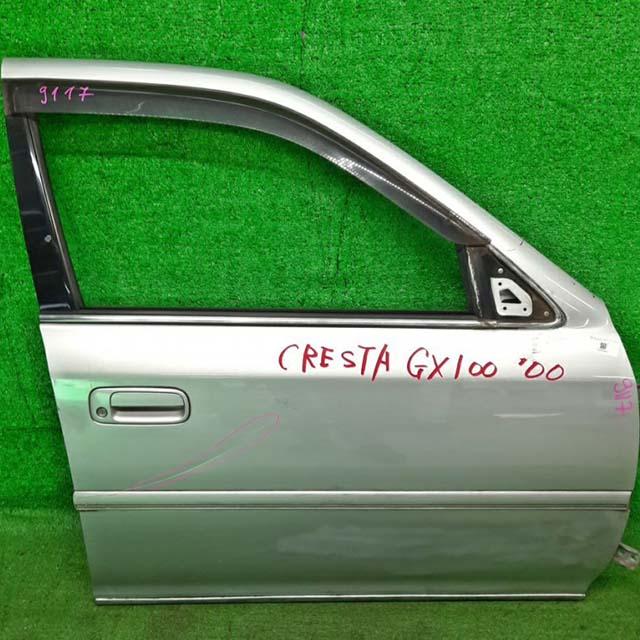 Дверь передняя правая серебро в сборе (замята) (Б/У) для TOYOTA CRESTA X100 1996-2001