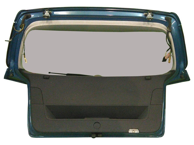 Крышка багажника голубая в сборе со стеклом, с обшивкой, с моторчиком дворника, с фонарями, с петлями (Б/У) для VOLKSWAGEN GOLF V 1K1 / 1K5 2003-2009
