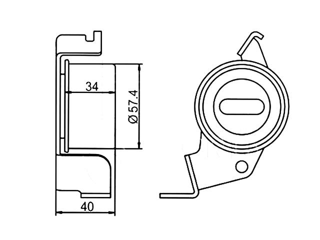Ролик натяжителя ремня приводного  QB23145