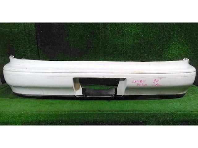 Бампер задний белый (царапины, скол) (Б/У) для TOYOTA CAMRY SV30 1990-1992