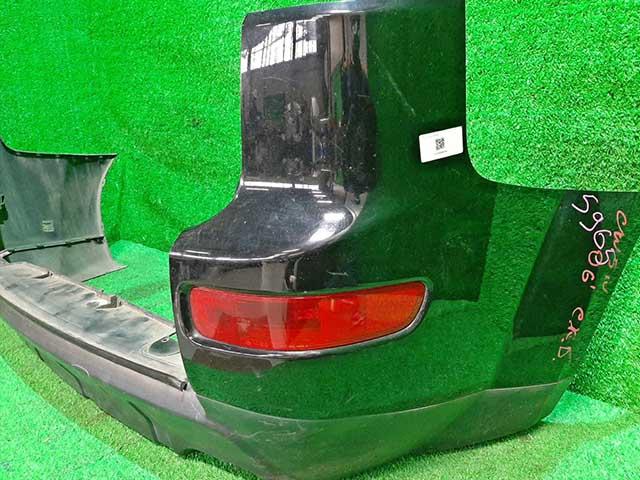 Бампер задний черный в сборе боковины, катафоты (потерт, царапины) (Б/У) для MITSUBISHI OUTLANDER / AIRTREK OUTLANDER XL CW 2007-2010