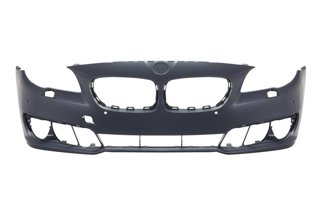 Бампер передний с отв. под омыватели фар и парктроник Уценка 50% (трещины, потертости, царапины) (уценка) для BMW 5 F10 / F11 / F07 2009-2016