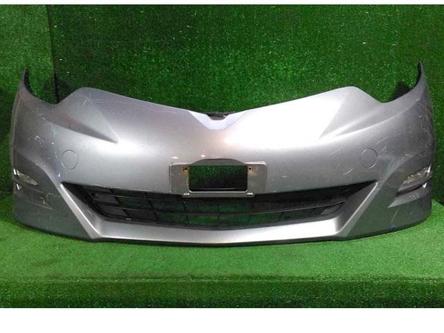 Бампер передний серебро в сборе с ПТФ и нижней решеткой (лом крепления, царапины) (Б/У) для TOYOTA ESTIMA R50 2006-2019