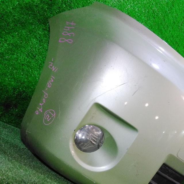 Бампер передний зеленый в сборе с ПТФ и решетками (царапины, лом крепления) (Б/У) для TOYOTA PORTE NP10 2004-2012