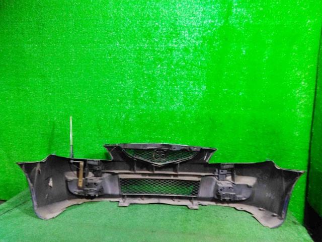 Бампер передний синий в сборе с заглушками, нижней решеткой и антенной (лом крепления) (Б/У) для MAZDA PREMACY CP 1998-2005