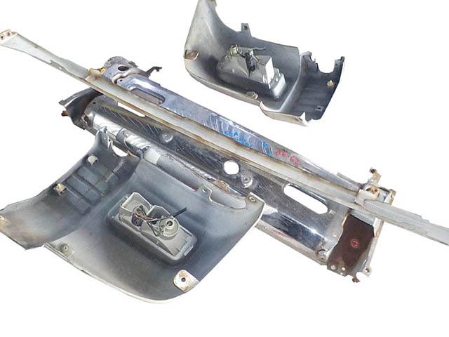Бампер передний серебро в сборе (Б/У) для MITSUBISHI PAJERO MINI / JUNIOR H51 / H56 1994-1998