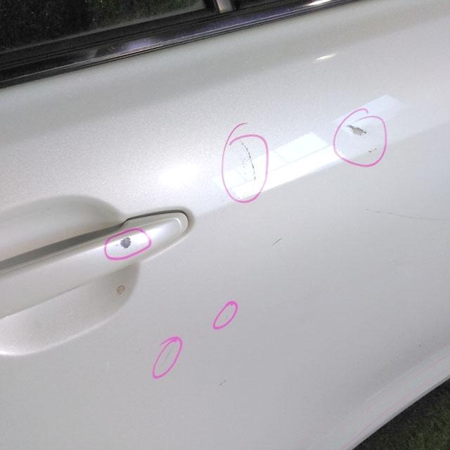 Дверь задняя правая белая в сборе (Б/У) для TOYOTA CAMRY XV40 2006-2011