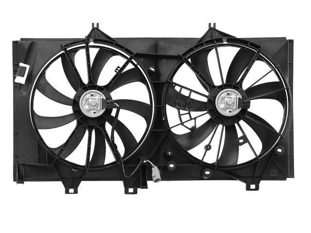 Диффузор вентилятора охлаждения радиатора в сборе без расширительного бачка Уценка 40% (скол, трещина угла восьмерка одной из крыльчаток)  L320212CN095_D_40
