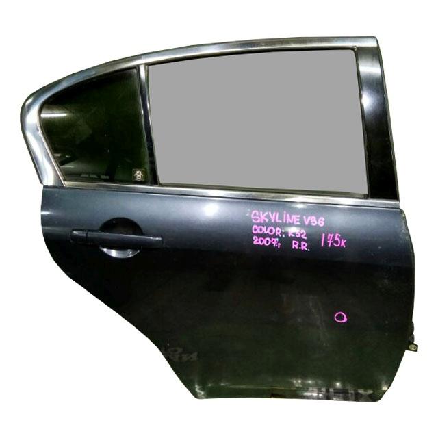 Дверь задняя правая черная в сборе (вмятина, сколы) (Б/У) для NISSAN SKYLINE V36 2006-2009