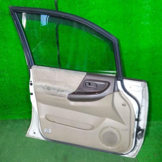 Дверь передняя левая белая в сборе без петель (нет петель) (Б/У) для NISSAN PRESAGE I U30 1998-2001