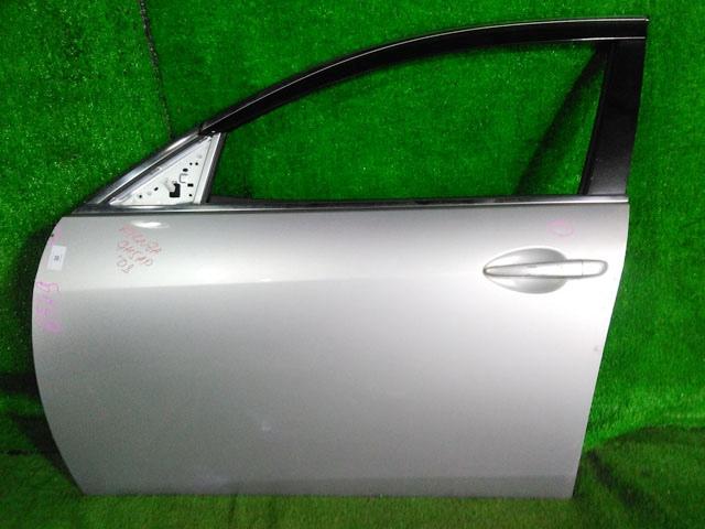 Дверь передняя левая серебро в сборе (вмятина, скол на ручке) (Б/У) для MAZDA ATENZA GH 2008-2012