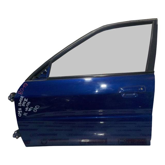 Дверь передняя левая синяя в сборе (вмятина)  MR208849_BU