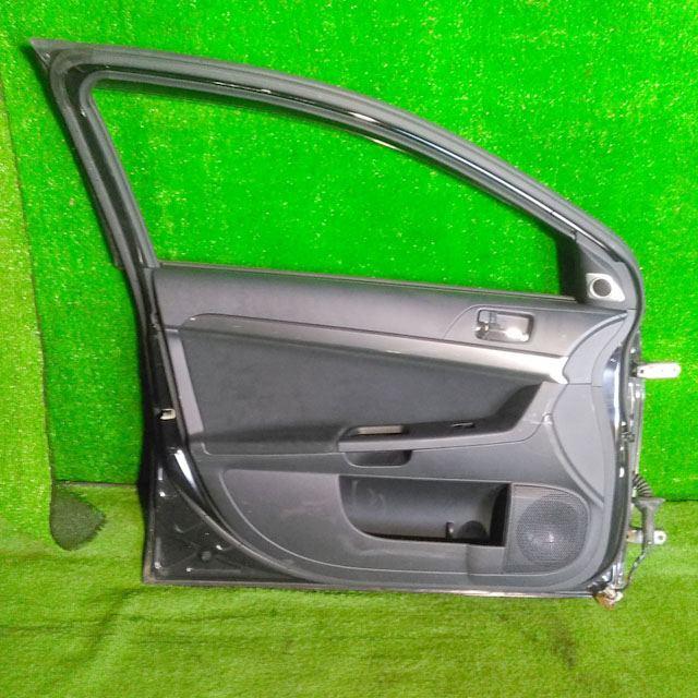 Дверь передняя левая черная в сборе (Б/У) для MITSUBISHI LANCER X