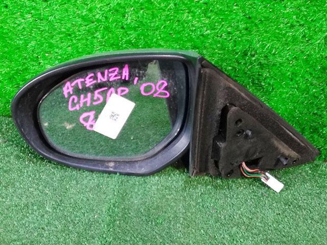 Зеркало заднего вида (боковое) левое электро, 8 контактов, с повторителем поворота (Б/У) для MAZDA ATENZA GH 2008-2012