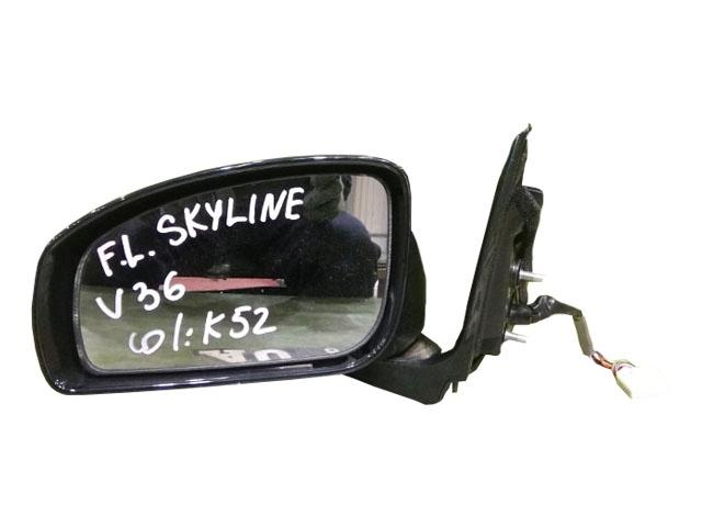 Зеркало заднего вида (боковое) левое электро, 13 контактов, с камерой (Б/У) для NISSAN SKYLINE V36 2006-2009
