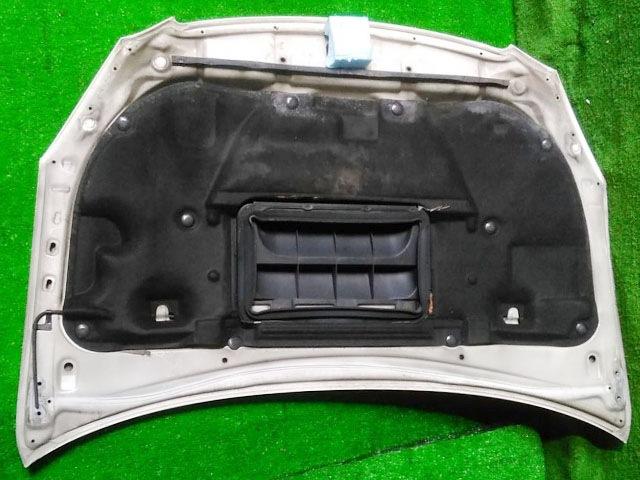 Капот белый в сборе с шумоизоляцией, с воздухозаборником (Б/У) для TOYOTA CALDINA T240 2002-2007