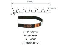Ремень поликлиновой GATES 6PK2550 JEEP COMPASS