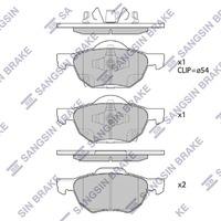 Колодки тормозные передние HONDA ACCORD VII CM / CL / CN 2002,2003,2004,2005,2006,2007,2008