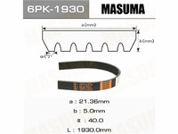 Ремень поликлиновой MASUMA 6PK2565 PEUGEOT 4007