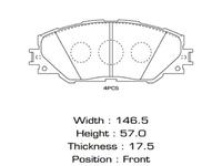 Колодки тормозные передние TOYOTA PRIUS A XW40 2011-2021