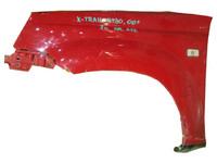 Крыло переднее левое красное с отв. под зеркало, с повторителем NISSAN X-TRAIL T30 2001,2002,2003,2004,2005,2006,2007