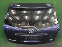 Крышка багажника синяя в сборе со стеклом, спойлер, стеклоочиститель, накладка хром, замок TOYOTA COROLLA FIELDER E140 2006-2012