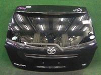 Крышка багажника черная в сборе со стеклом, спойлер, стеклоочиститель, накладка хром, замок TOYOTA COROLLA FIELDER E140 2006-2012