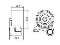 Ролик натяжителя ремня ГРМ TOYOTA HILUX N140 / N150 / N160 / N170 1997-2004