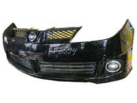 Бампер передний черный в сборе с ПТФ и решеткой радиатора NISSAN WINGROAD II Y11 1999,2000,2001,2002,2003,2004,2005