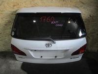 Крышка багажника белая в сборе со стеклом, спойлер, фонари, стеклоочиститель, замок TOYOTA IPSUM / PICNIC M20 M 20 2003,2004,2005,2006,2007,2008,2009