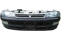 Ноускат черный в сборе бампер, суппорт, радиаторы, решетка, фары, ПТФ, поворотники, диффузоры, усилитель (лом креплений оптики) TOYOTA CARINA T190 1992-1996