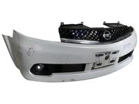 Бампер передний белый в сборе с ПТФ и решеткой радиатора NISSAN LAFESTA
