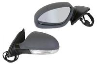 Зеркало заднего вида (боковое) левое электро, 7 контактов, с повторителем поворота, фонариком подсветки и подогревом VOLKSWAGEN PASSAT B6 2005,2006,2007,2008,2009,2010