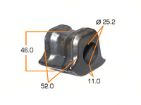 Втулка стабилизатора передней подвески TOYOTA PRIUS A XW40 2011-2021