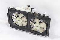 Диффузор вентилятора охлаждения радиатора в сборе с моторами и расширительным бачком MAZDA MPV LY 2006,2007,2008,2009,2010,2011,2012,2013,2014,2015,2016