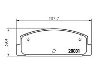 Колодки тормозные задние MAZDA 323 BJ 1998,1999,2000,2001,2002,2003