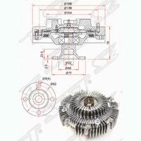 Вискомуфта вентилятора охлаждения TOYOTA HILUX N140 / N150 / N160 / N170 1997-2004