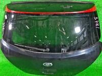 Крышка багажника черная в сборе со стеклом, спойлер, стеклоочиститель (вмята, тычки) NISSAN TIIDA C11 2007,2008,2009,2010,2011,2012,2013,2014
