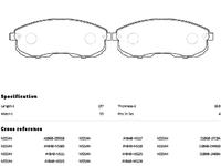Колодки тормозные передние с индикатором износа NISSAN MAXIMA / CEFIRO MAXIMA VII A35 2008,2009,2010,2011,2012,2013,2014