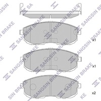 Колодки тормозные передние NISSAN MAXIMA / CEFIRO MAXIMA VII A35 2008,2009,2010,2011,2012,2013,2014