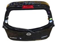 Крышка багажника черная в сборе со стеклом, с замком, с петлями, со стеклоочистителем (вмятина) NISSAN MICRA / MARCH MICRA IV / MARCH IV K13 2010,2011,2012,2013,2014,2015,2016